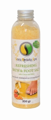 Refreshing bath&foot salt with citrus and mint