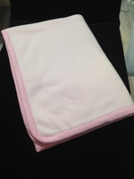 Fleece deken dubbel laags licht rose