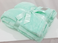 Super zachte fleece deken mint